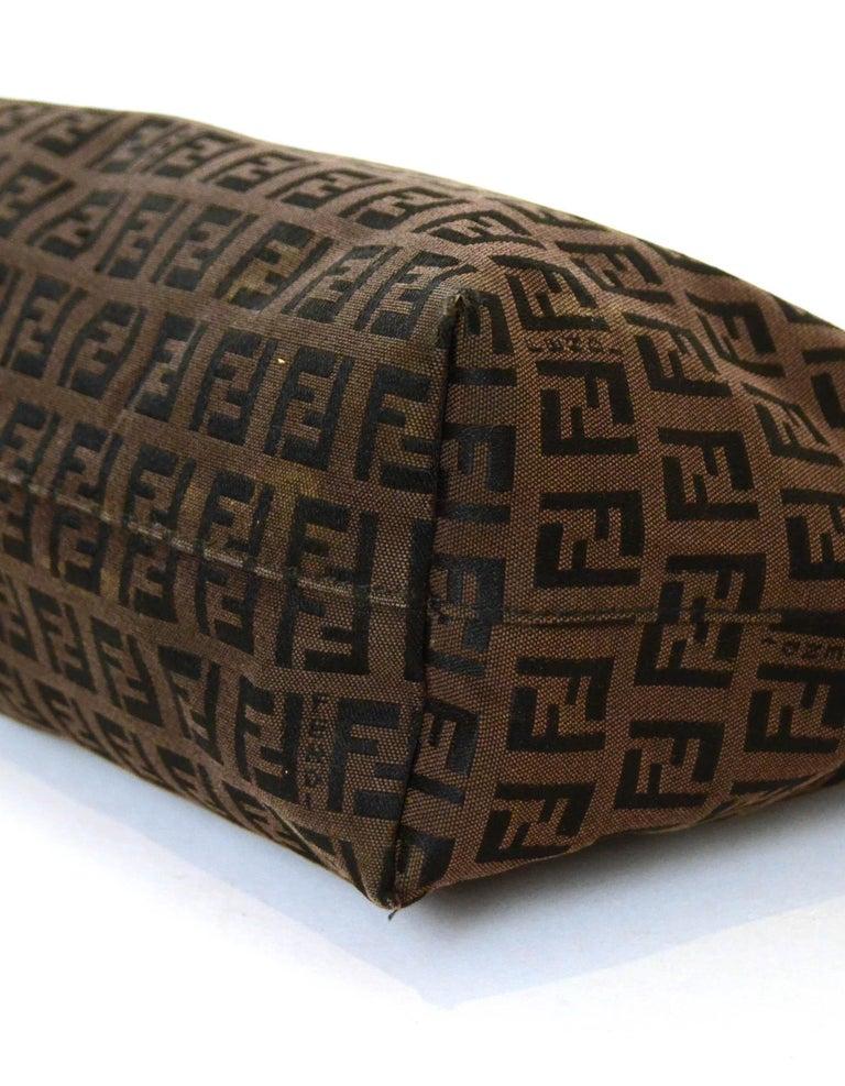 Fendi Brown Vintage Zucchino Mini Monogram Open Tote Bag 1