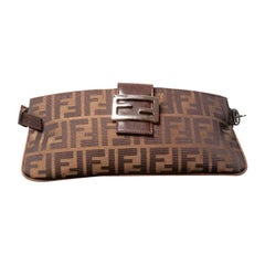 Fendi Brown Zucca Belt Bag