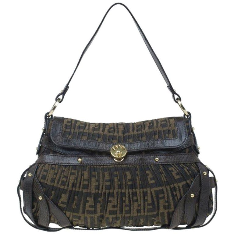 3b539e436a93 Fendi Brown Zucca Chef Bag For Sale at 1stdibs