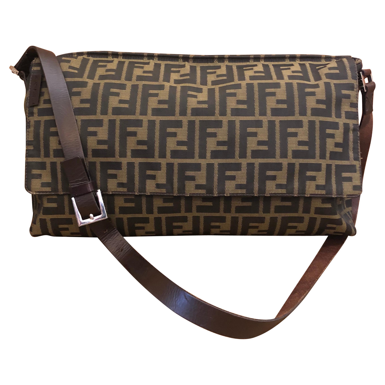 FENDI Brown Zucca Jacquard Crossbody Bag Unisex Mens