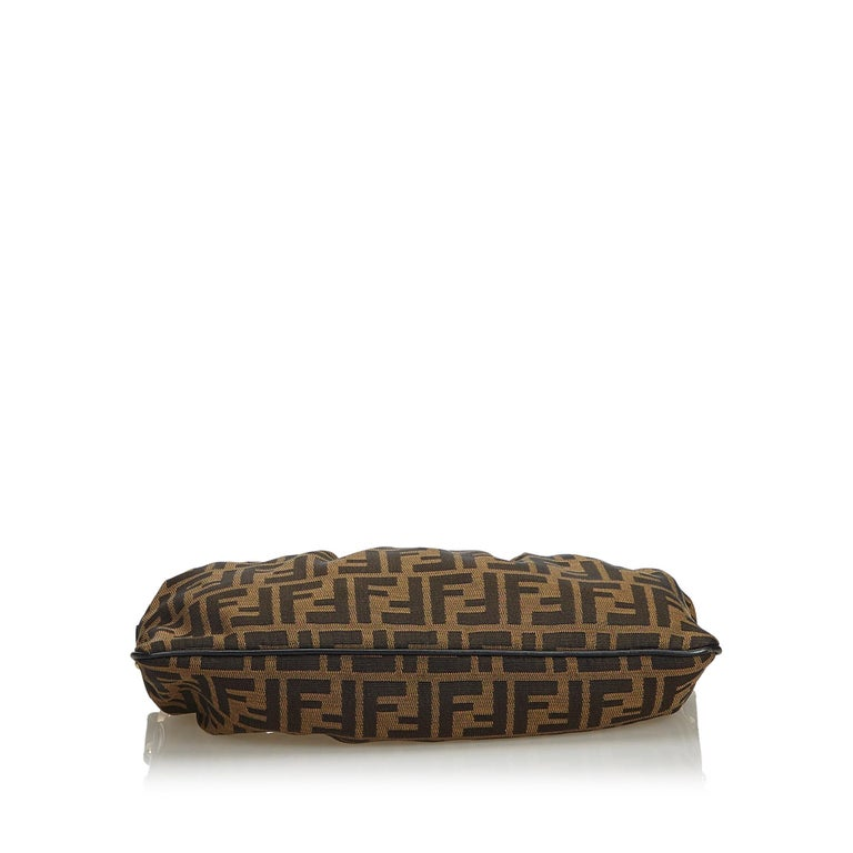 Fendi Brown Zucca Jacquard Shoulder Bag At 1stdibs