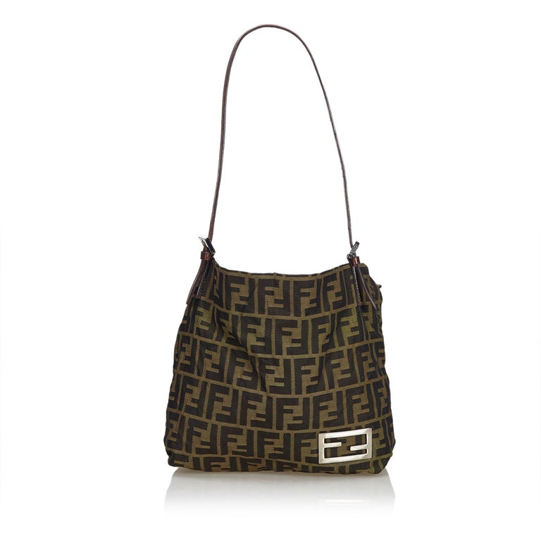Fendi Brown Zucca Jacquard Tote Bag For Sale at 1stdibs f64830df3c448