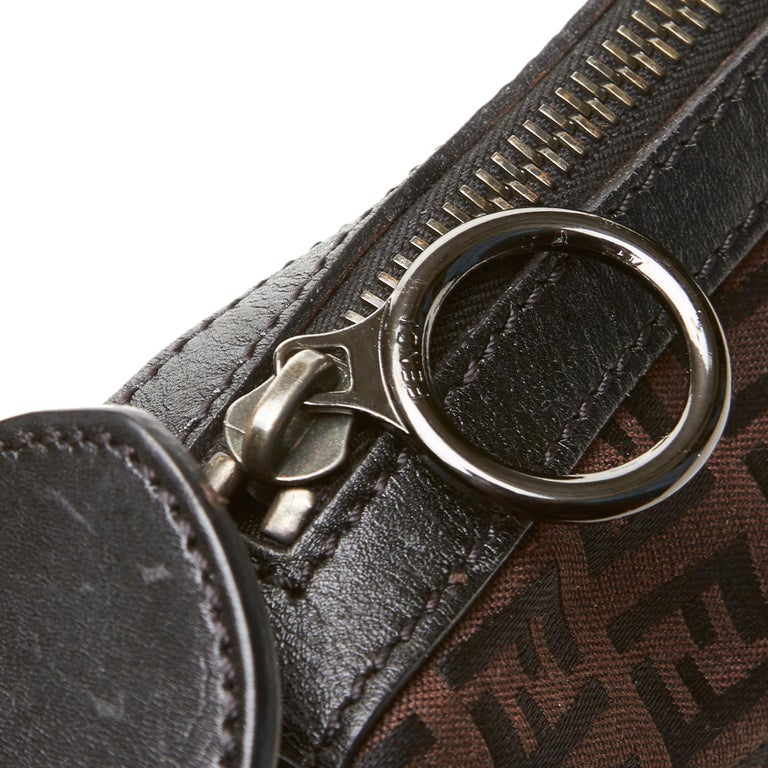 Fendi Brown Zucchino Oyster Bag For Sale 2