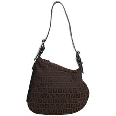 Fendi Brown Zucchino Oyster Bag