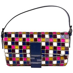 FENDI By Karl Lagerfeld Baguette Bag in Multicolored Crystals