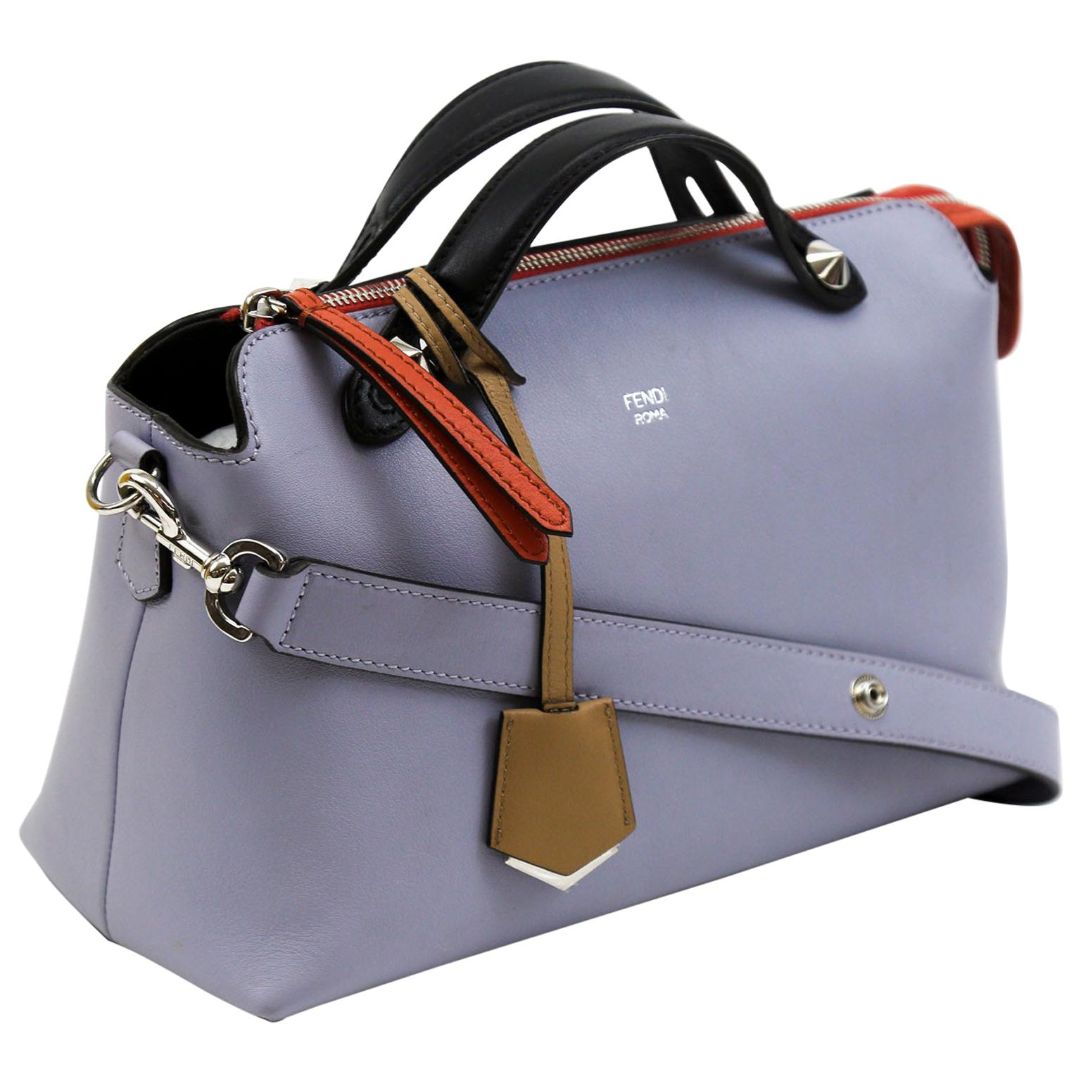 Fendi By The Way Lilac Small Leather Cross-body Satchel Bag