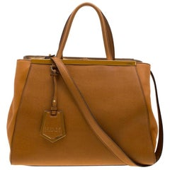 Fendi Caramel Brown Leather Medium 2jours Tote
