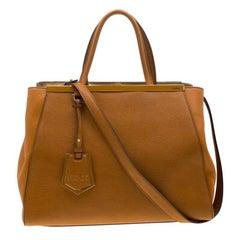Fendi Caramel Saffiano Leather 2Jours Top Handle Bag