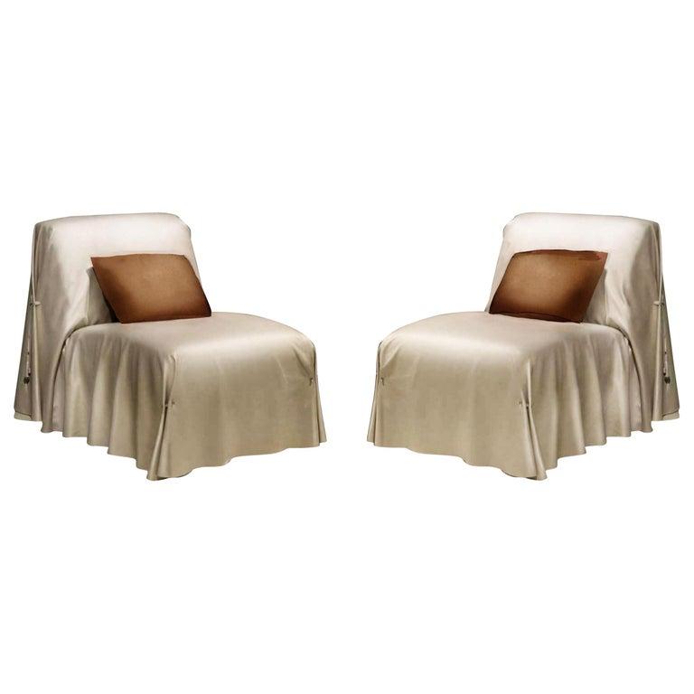 Swell Fendi Casa Tunica Italian Leather Lounge Chair Modern Sculptural Slipper Chair Theyellowbook Wood Chair Design Ideas Theyellowbookinfo