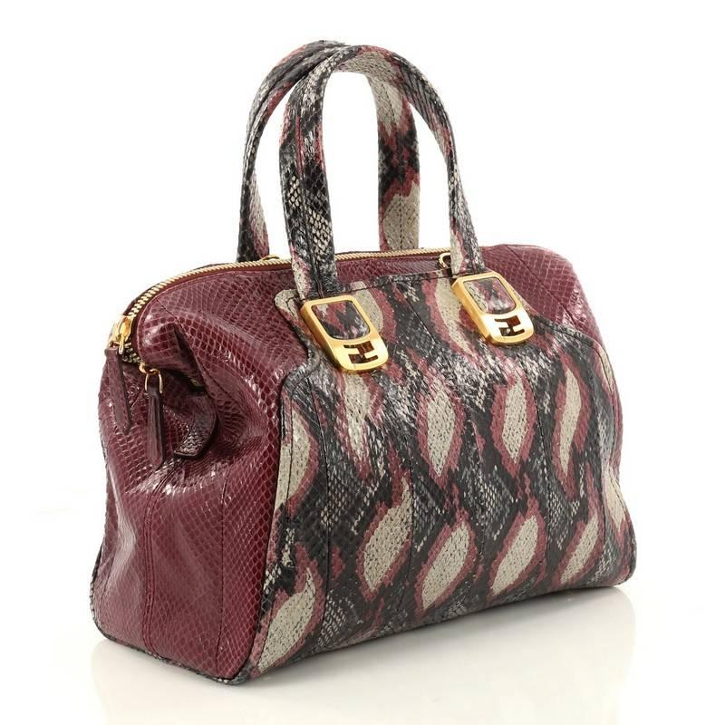 Fendi Chameleon Convertible Satchel Python Small