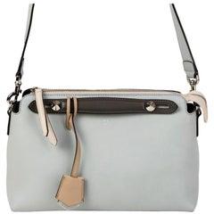 FENDI Cloud blue leather BY THE WAY REGULAR BOSTON Shoulder Bag