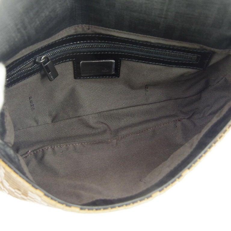 Fendi Cognac Black Logo Patent Leather Top Handle Satchel Shoulder Flap Bag For Sale 2