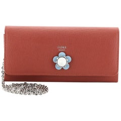 Fendi Continental Wallet on Chain Studded Leather