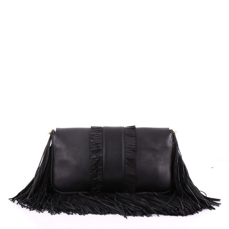 3eb1b20dba91 Fendi Convertible Baguette Bag Fringe Leather Medium at 1stdibs