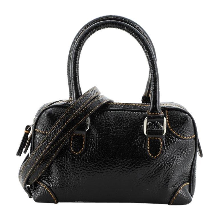 Fendi Convertible Boston Bag Patent Mini