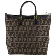 Fendi Convertible Tote Zucca Coated Canvas