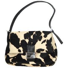 Fendi Cow Print Pony Hair Mama Forever Shoulder Bag