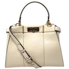 Fendi Cream Peekaboo Bag