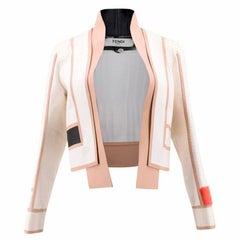 Fendi Cream Python Jacket (Size: US 0-2/XXS)