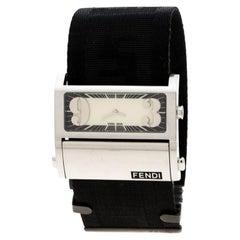 Fendi Cream Stainless Steel Zip Code1120G Women's Wristwatch 45 mm