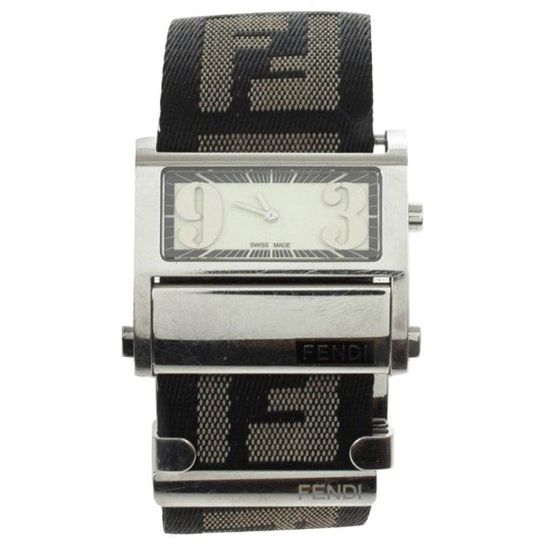 Fendi Cream Zip Code Womens Wristwatch 32 MM For Sale