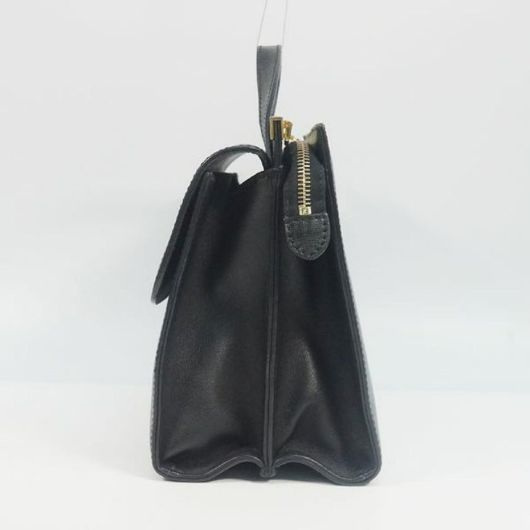 An authentic FENDI Demi Jour Womens handbag 8BT222 black. The color is Black. The outside material is Leather. The pattern is Demi Jour. This item is Contemporary. The year of manufacture would be 1986. Rank AB signs of wear (Small) Used goods in