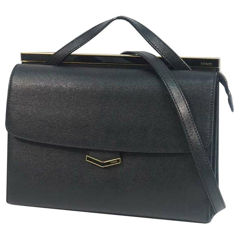 FENDI Demi Jour Womens handbag 8BT222 black For Sale