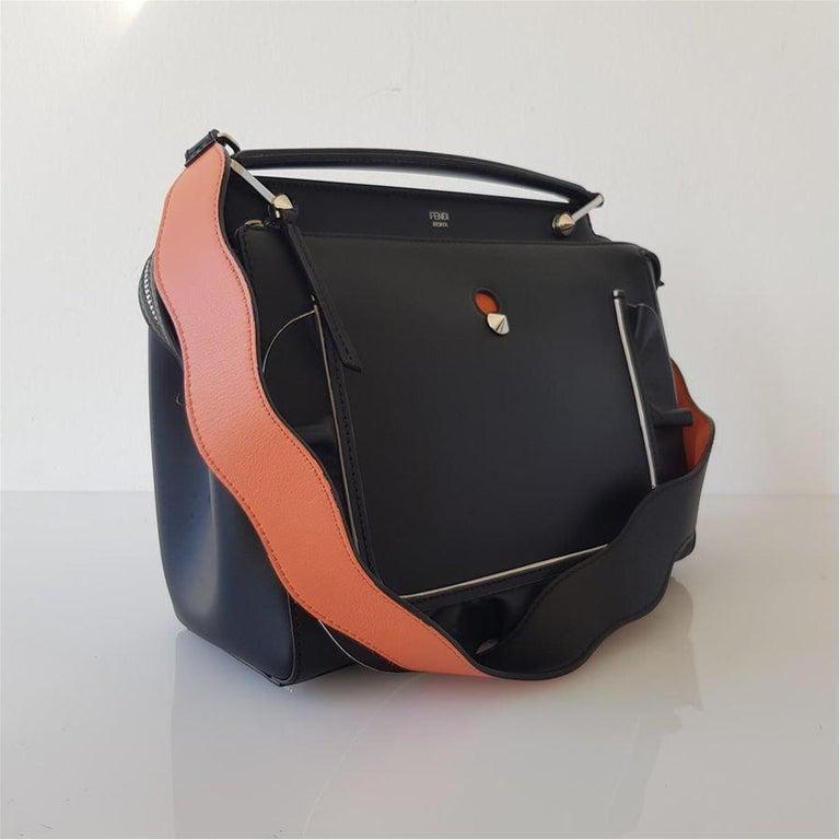 Black Fendi DotCom Bag For Sale