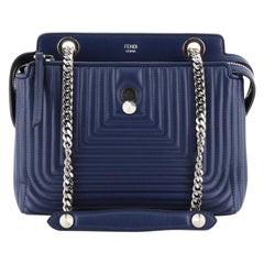 Fendi DotCom Click Shoulder Bag Quilted Leather Small