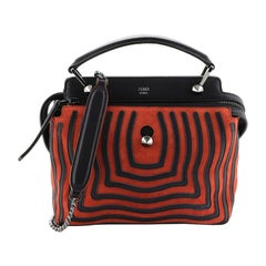 Fendi DotCom Click Top Handle Bag Hypnotic Suede Small