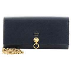 Fendi DotCom Continental Wallet on Chain Leather