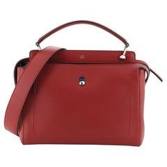 Fendi DotCom Convertible Satchel Leather Medium