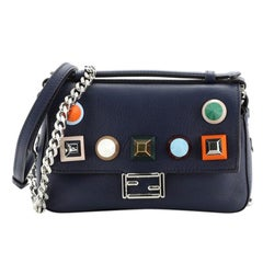 Fendi Double Baguette Studded Leather Micro