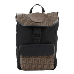 Fendi Double F Buckle Backpack Zucca Coated Canvas with Nylon
