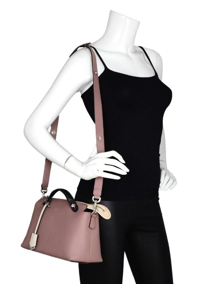 5e4e727521 Fendi English Rose Pink Calfskin Leather Medium By The Way Boston Bag W/  Strap