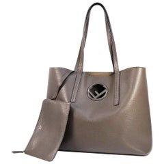 FENDI F IS tote Womens tote bag 8BH348 gray brown