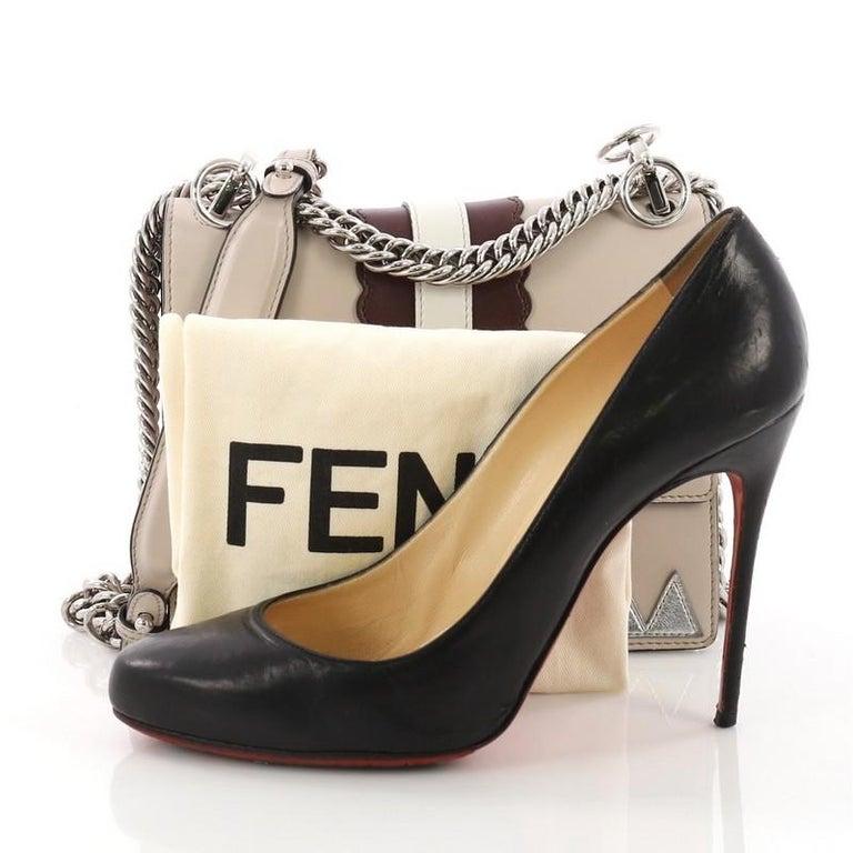 54e9e883a0b Fendi Faces Kan I Handbag Leather Small at 1stdibs