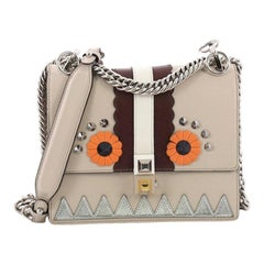 Fendi Faces Kan I Handbag Leather Small