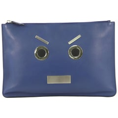 Fendi Faces Pouch Leather Medium