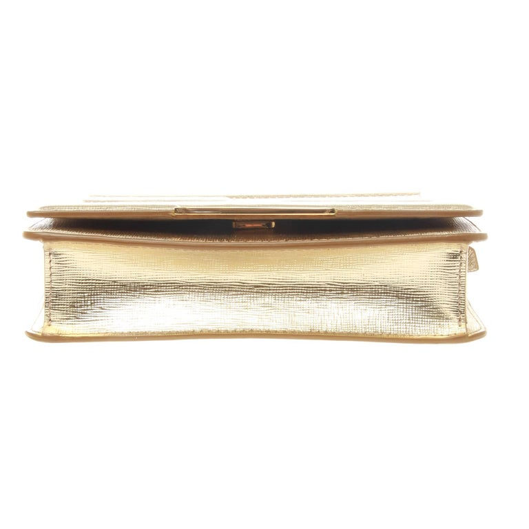 Women's or Men's Fendi FF Gold Tube WOC For Sale
