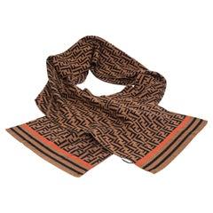 Fendi FF Orange Stripe New Scarf