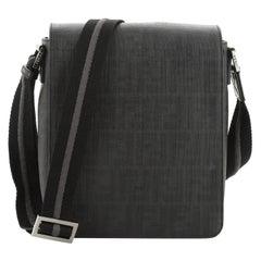 Fendi Flap Messenger Bag Zucca Coated Canvas Small