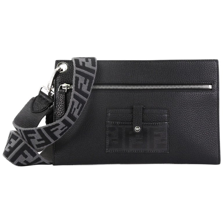 22305a2b5d Fendi Flat Pouch Crossbody Bag Leather Medium