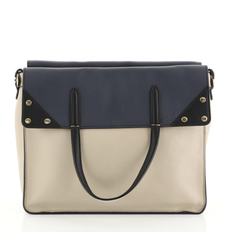 Fendi Flip Grace Convertible Tote Leather Regular In Good Condition In New York, NY