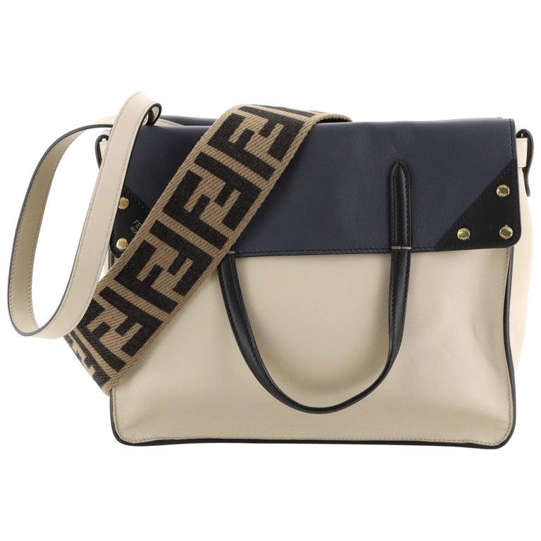 Fendi Flip Grace Convertible Tote Leather Regular