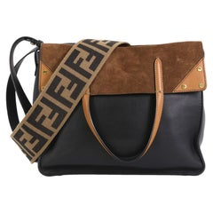 Fendi Flip Grace Convertible Tote Leather with Suede Regular