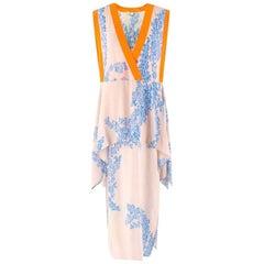 Fendi floral-print V-neck silk maxi dress IT 40