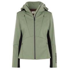 Fendi Fox Fur Trimmed Striped Ski Jacket