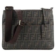 Fendi Front Pocket Messenger Bag Zucca Coated Canvas East West