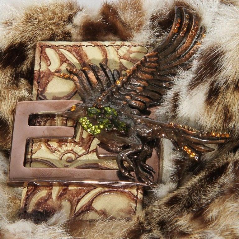 Fendi Fur Mini Baguette  For Sale 2
